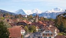 Mountain sceneries and classic cities of Switzerland and Austria